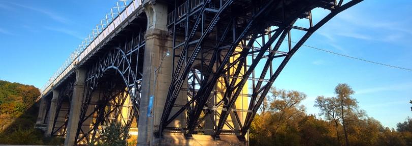 The Prince Edward Viaduct bridge in Toronto, Ontario.