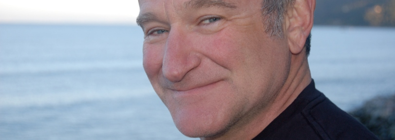 Close up of Robin Williams.