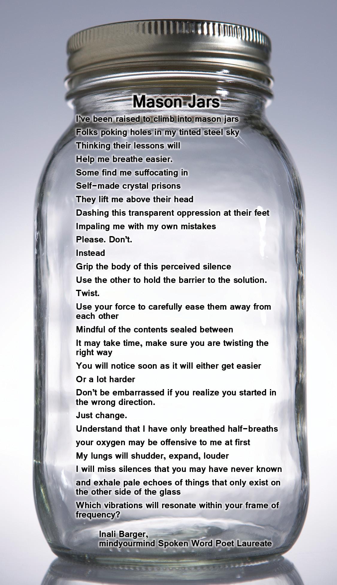 Mason Jars poem