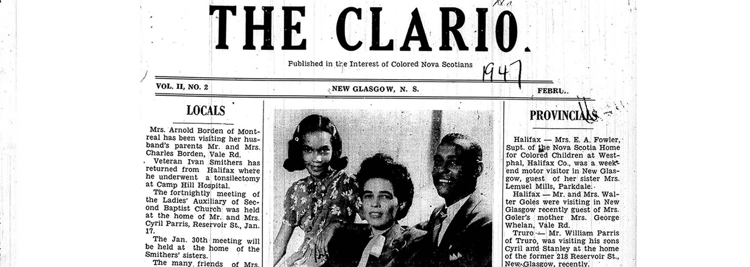 February 1947 frontpage of the Clarion newspaper
